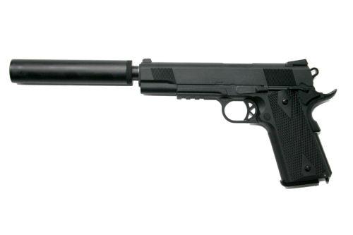 We M1911 Tactical Full Metal 2 Mag Silencer Tactical