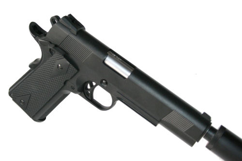 WE M1911 Tactical Full metal 2 mag + silencer - Tactical ... M1911 Suppressed Tactical